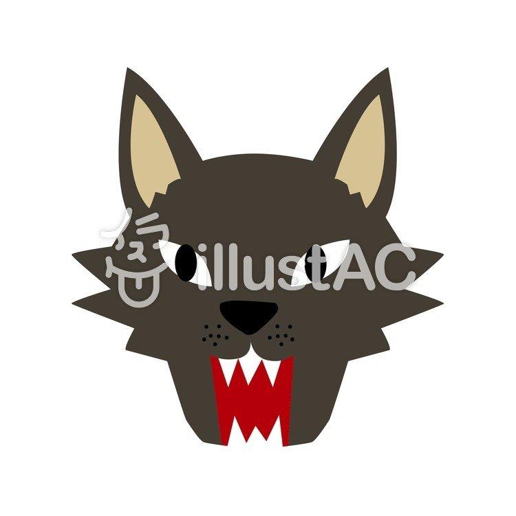 オオカミの顔イラスト No 224990無料イラストならイラストac