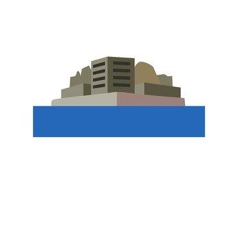 Nagasaki warship island