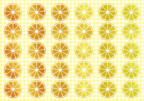 Watercolor touch orange wallpaper gingham check