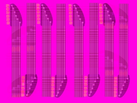 幾何学模様 ギターフレット ピンク
