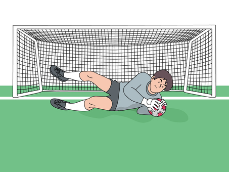 A keeper to defend the goal