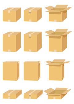 Cardboard box material set