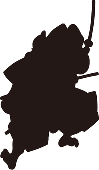 Ukiyo-e character silhouette part 83