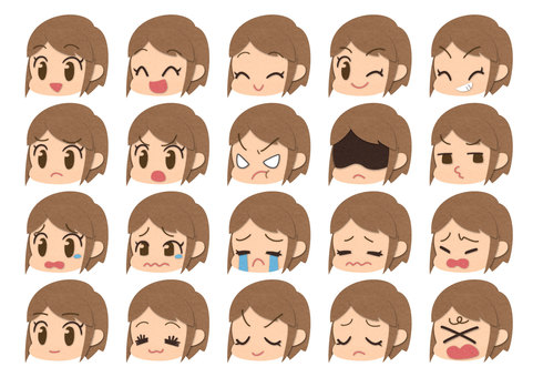 Various expressions (female)