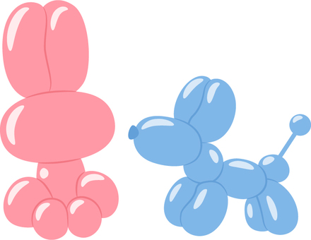 Balloon art _ rabbit and dog