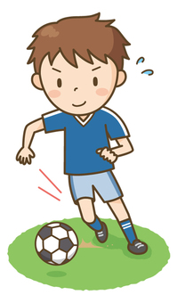 Soccer boy (dribble)
