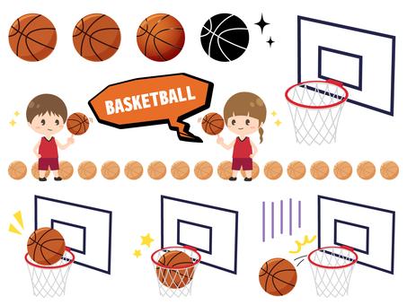 バスケットボールのセット