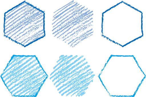 Crayon hexagon b
