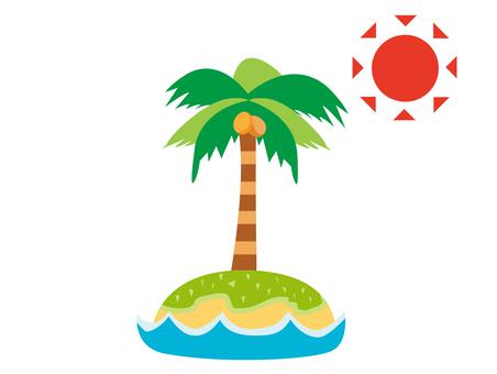 Palm tree palm island south island sea
