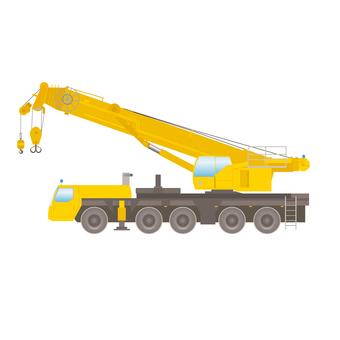 Heavy machinery large crane