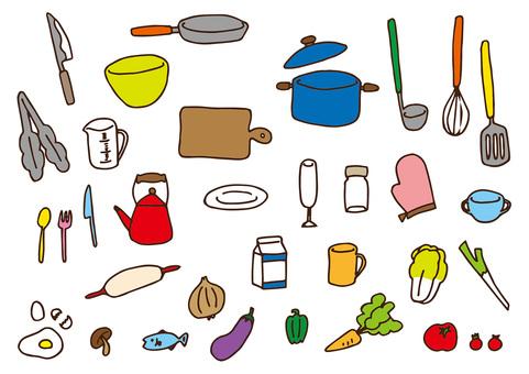 Hand-painted illustration - Kitchen -