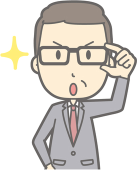 Middle-aged man suits - Glasses Kirari 1 - Bust