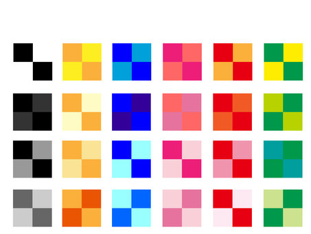Colorful check material
