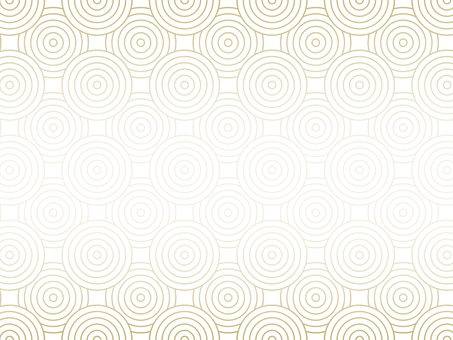 Geometric pattern of circle on white background Gold color
