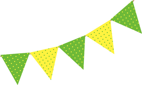 Flag garland / vitamin 2 color dot 2