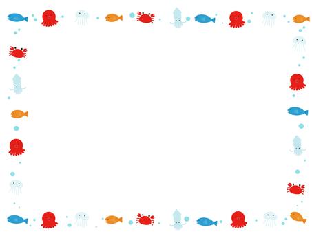 바다 생물의 테두리