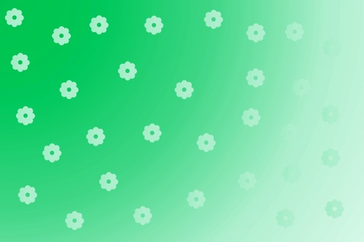 Background material · Flower pattern (green)