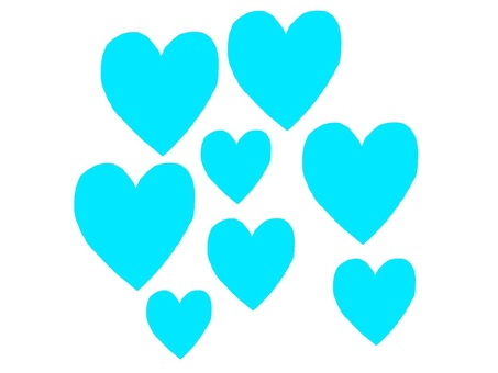 Lot many hearts blue