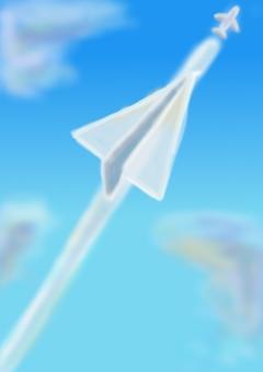 Aozora's paper airplane