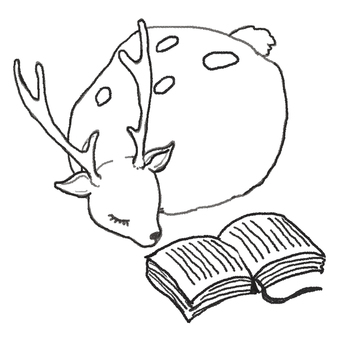Deer and reading