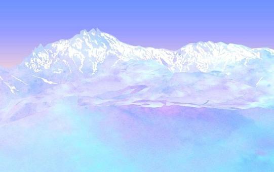 Alps snow melting