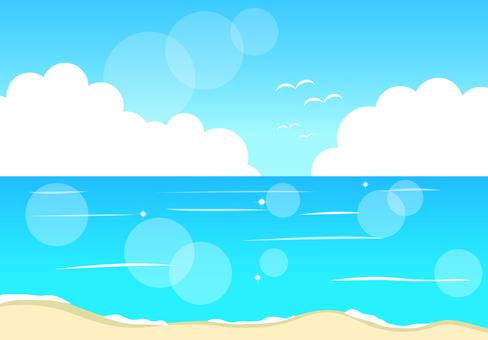 배경 바다