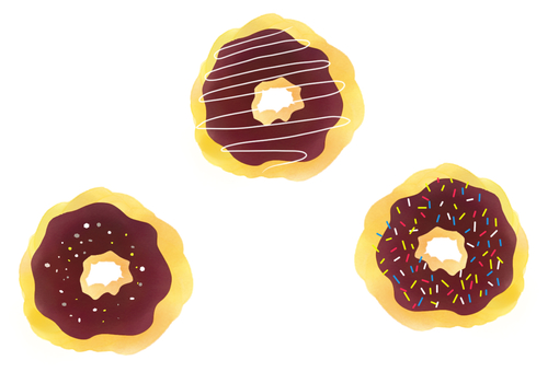 Three kinds of donuts