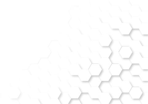 白六角形のデジタル幾何学模様抽象背景素材