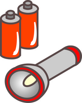 Flashlight and battery