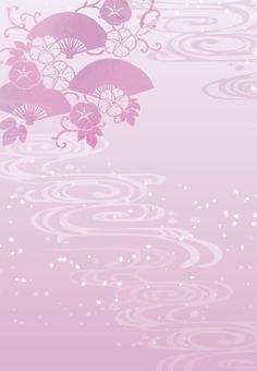 배경 (세로 × 가로 복숭아 무늬)