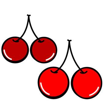 Cherries and black cherries