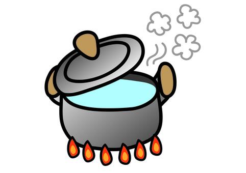 Silver hot pot
