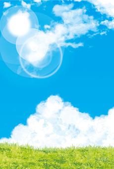 青空背景晴れ空テクスチャ背景壁紙葉書比率