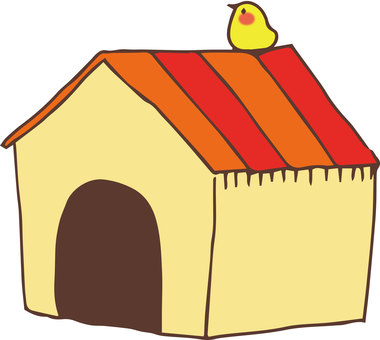 Dog houses and birds