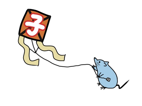 Mouse kite flying