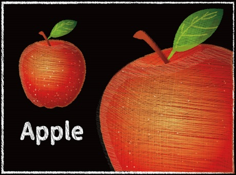 Chalk art style: Apple