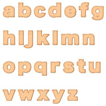 Biscuit alphabet lower case