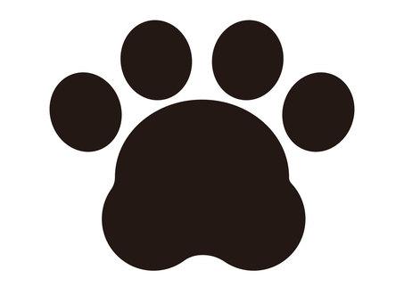 Cat cute paws simple transparent illustration