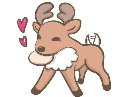 Deer eating crackers