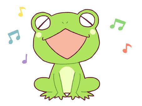 Singing frog 1