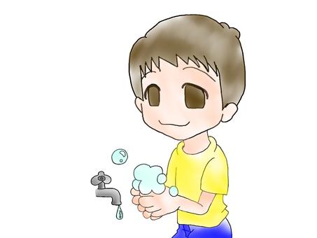 Hand washing boys