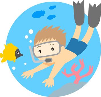 夏天/潛水
