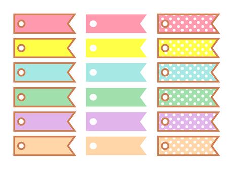Cute ribbon banner set
