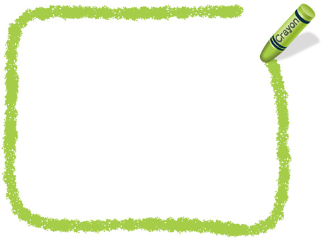 Crayon Handwritten frame rectangular yellow green