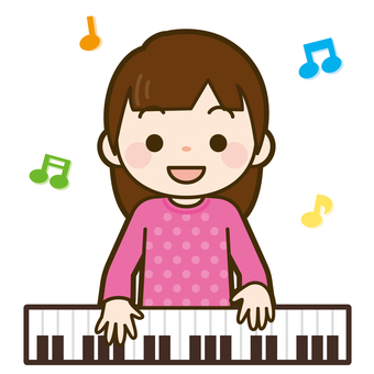Girl playing the piano