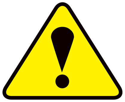 CAUTION! Attention icon mark