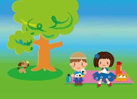 Picnic under a tree
