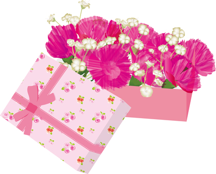 Carnation gift (red · pink)