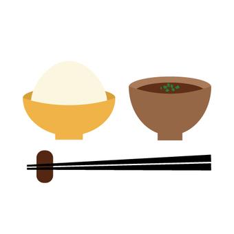 套餐(米飯和味噌湯)