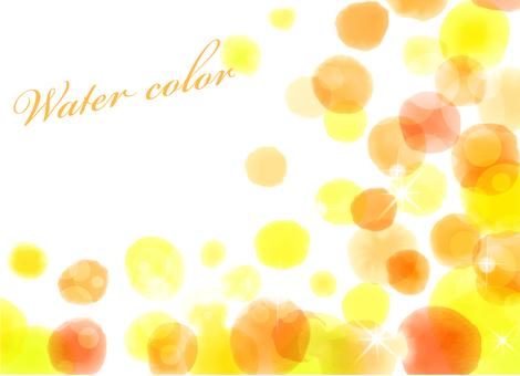 水彩風格框架橙色